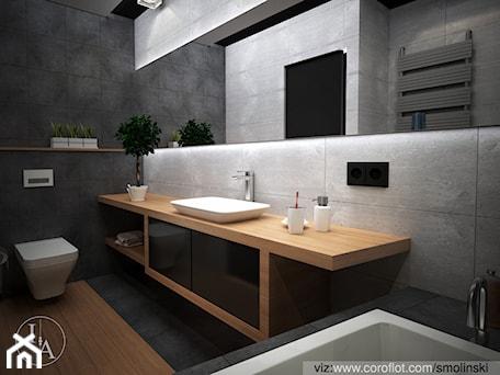 Aranżacje wnętrz - Łazienka: Frozen Garden bathroom - Średnia biała szara łazienka, styl minimalistyczny - Inter Adore. Przeglądaj, dodawaj i zapisuj najlepsze zdjęcia, pomysły i inspiracje designerskie. W bazie mamy już prawie milion fotografii!