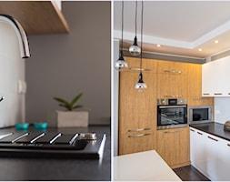 Mieszkanie K - Średnia otwarta szara kuchnia w kształcie litery l, styl nowoczesny - zdjęcie od Inter Adore - Homebook