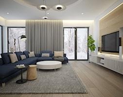 nowoczesny salon z dużą sofą - zdjęcie od MOUD Joanna Swatek - Homebook