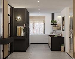 kuchnia opcja z szarymi płytkami - zdjęcie od MOUD Joanna Swatek - Homebook