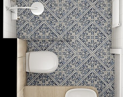 Mała łazienka w domu jednorodzinnym. - zdjęcie od MOUD Joanna Swatek - Homebook