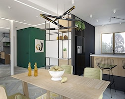 widok z jadalni na kuchnię i hol - zdjęcie od MOUD Joanna Swatek