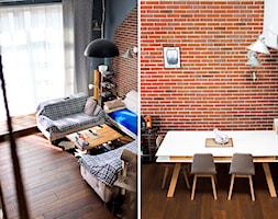 Loft Legnica zdjęcia z realizacji - Średnia brązowa jadalnia jako osobne pomieszczenie, styl industrialny - zdjęcie od Niebudek Interior Design Agnieszka Niebudek
