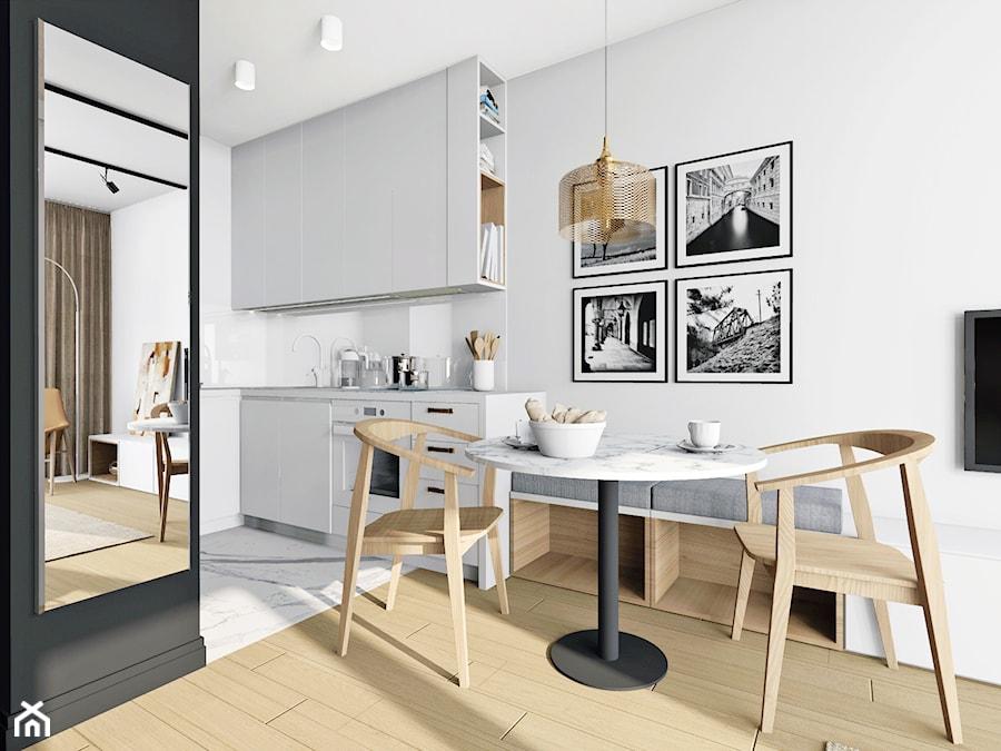 Mieszkanie 36 - metrowe przy muzeum lotnictwa. - Kuchnia, styl nowoczesny - zdjęcie od Miliform