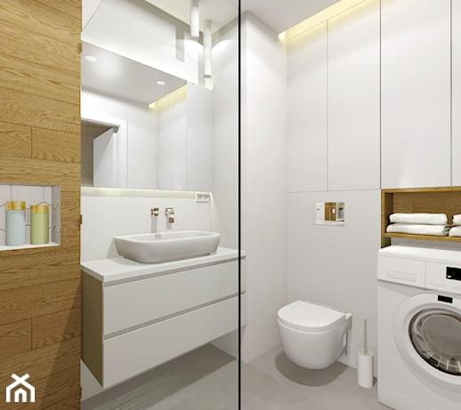 Mała łazienka Z Prysznicem I Pralką Pomysły Inspiracje Z Homebook