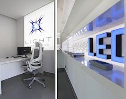 Salon Light Impressions - Średnie szare biuro domowe, styl nowoczesny - zdjęcie od Projekt Kolektyw