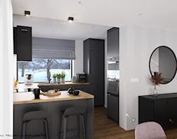 Część dzienna w domu w Żywcu - Kuchnia, styl nowoczesny - zdjęcie od ML Projekt - Homebook