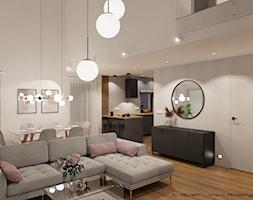 Salon z aneksem kuchennym - zdjęcie od ML Projekt - Homebook