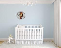Średni pastelowy niebieski pokój dziecka dla chłopca dla niemowlaka - zdjęcie od Mango