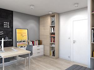 Dom w Przeszowicach - Średni biały szary czarny pokój dziecka dla chłopca dla nastolatka, styl nowoczesny - zdjęcie od A2 STUDIO pracownia architektury