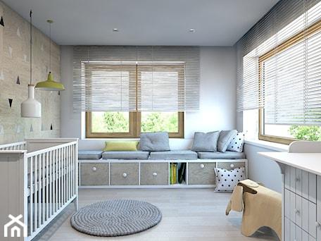 Duży biały beżowy pokój dziecka dla chłopca dla niemowlaka - zdjęcie od A2 STUDIO pracownia architektury