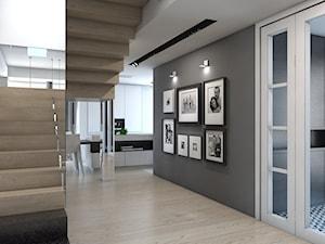 DOM JEDNORODZINNY / GLIWICE - Średni szary hol / przedpokój - zdjęcie od A2 STUDIO pracownia architektury