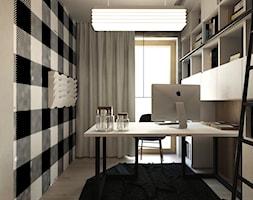 DOM JEDNORODZINNY / SZCZECIN - Małe czarne białe biuro domowe, styl nowoczesny - zdjęcie od A2 STUDIO pracownia architektury