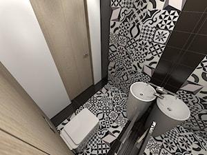projekt toalety w domu jednorodzinnym w Zbrosławicach