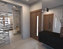 parter domu jednorodzinnego - Średni biały hol / przedpokój, styl nowoczesny - zdjęcie od A2 STUDIO pracownia architektury - Homebook