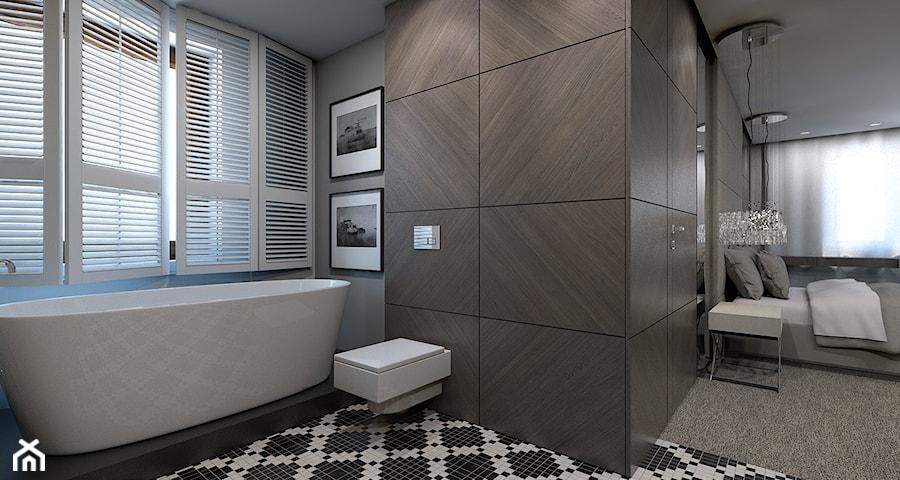 Dom jednorodzinny /Śląsk - Średnia łazienka w domu jednorodzinnym z oknem, styl klasyczny ...