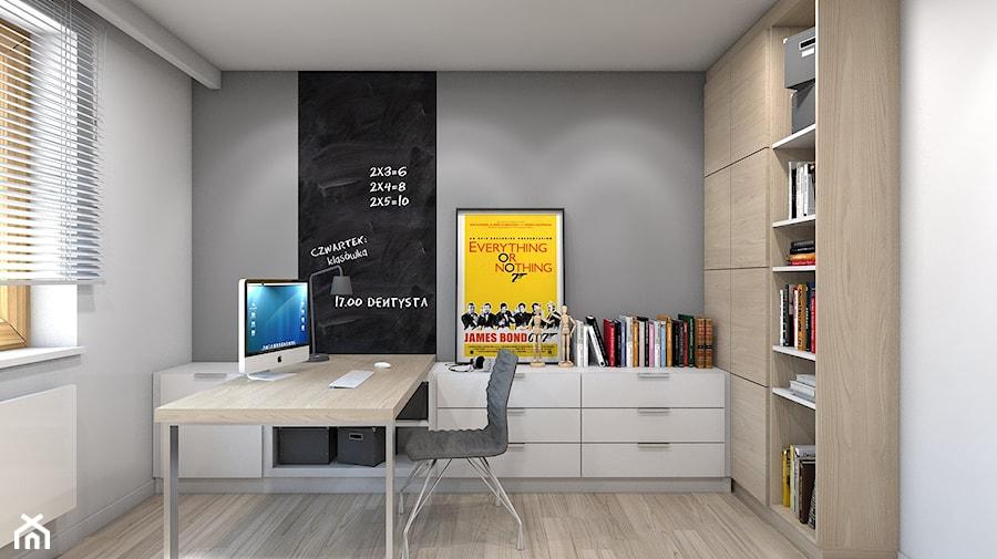 Dom w Przeszowicach - Średni szary czarny pokój dziecka dla chłopca dla nastolatka, styl nowoczesny - zdjęcie od A2 STUDIO pracownia architektury