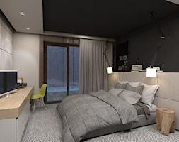 dom jednorodzinny w Ozimku - Średnia sypialnia małżeńska, styl nowoczesny - zdjęcie od A2 STUDIO pracownia architektury