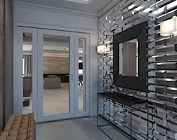 Dom jednorodzinny /Śląsk - Średni brązowy hol / przedpokój, styl klasyczny - zdjęcie od A2 STUDIO pracownia architektury