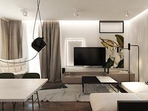 APARTAMENT 1 / TARNOWSKIE GÓRY - Średni biały salon z jadalnią, styl nowoczesny - zdjęcie od A2 STUDIO pracownia architektury