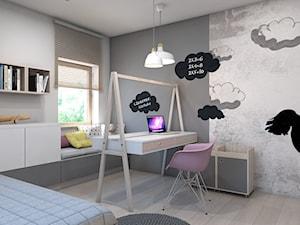pokój małej damy - Średni biały szary pokój dziecka dla dziewczynki dla malucha, styl nowoczesny - zdjęcie od A2 STUDIO pracownia architektury