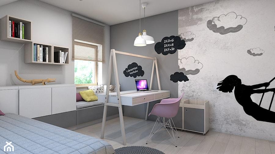 Aranżacje wnętrz - Pokój dziecka: pokój małej damy - Średni biały szary pokój dziecka dla dziewczynki dla malucha, styl nowoczesny - A2 STUDIO pracownia architektury. Przeglądaj, dodawaj i zapisuj najlepsze zdjęcia, pomysły i inspiracje designerskie. W bazie mamy już prawie milion fotografii!