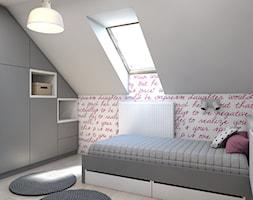 pokój małej damy - Średni szary różowy pokój dziecka dla dziewczynki, styl nowoczesny - zdjęcie od A2 STUDIO pracownia architektury