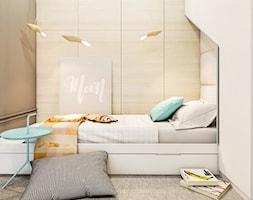 mieszkanie Warszawa - Mały szary brązowy pokój dziecka dla chłopca dla dziewczynki dla malucha dla nastolatka, styl eklektyczny - zdjęcie od A2 STUDIO pracownia architektury