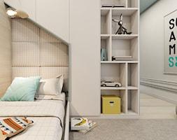 mieszkanie Warszawa - Mały szary pokój dziecka dla chłopca dla dziewczynki dla malucha dla nastolatka, styl eklektyczny - zdjęcie od A2 STUDIO pracownia architektury