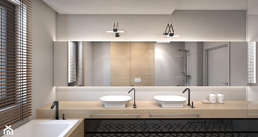 dom jednorodzinny w Ozimku  Duża łazienka w domu jednorodzinnym z oknem, sty   -> Kuchnia W Kolorze Mietowym