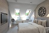 jasna skandynawska sypialnia na poddaszu