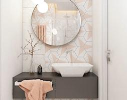 mieszkanie Warszawa - Średnia biała łazienka bez okna, styl eklektyczny - zdjęcie od A2 STUDIO pracownia architektury