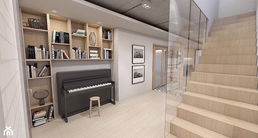 dom jednorodzinny w Ozimku - Hol / przedpokój, styl nowoczesny - zdjęcie od A2 STUDIO pracownia architektury