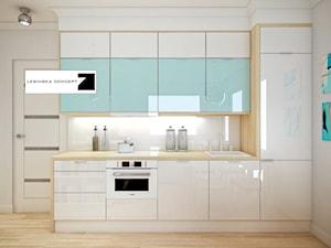Mała biała kuchnia jednorzędowa w aneksie, styl nowoczesny - zdjęcie od LESINSKA CONCEPT