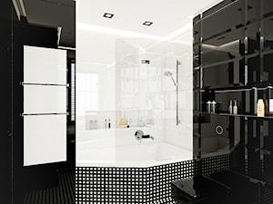 APARTAMENT KAPITAŃSKI - Biała czarna łazienka, styl nowoczesny - zdjęcie od LESINSKA CONCEPT