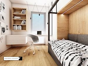 APARTAMENT W WARSZAWIE - Mały biały pokój dziecka dla nastolatka, styl skandynawski - zdjęcie od LESINSKA CONCEPT