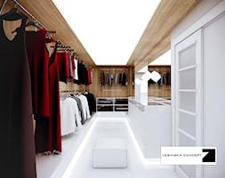 BIAŁY MODERNIZM GDYŃSKI - Garderoba, styl minimalistyczny - zdjęcie od LESINSKA CONCEPT