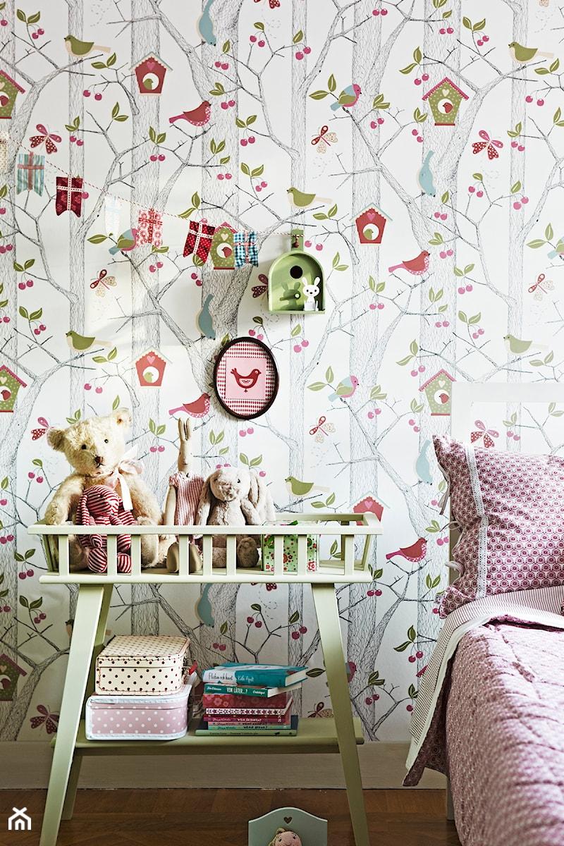 tapeta w drzewa i ptaszki lilleby marki boras tapeter zdj cie od ardeko homebook. Black Bedroom Furniture Sets. Home Design Ideas