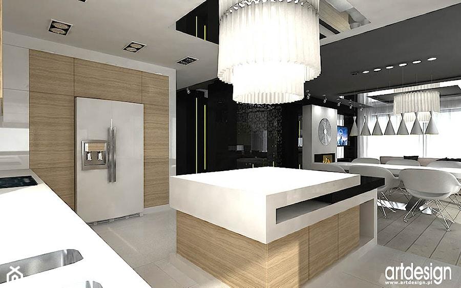 kuchnia z wyspą  zdjęcie od ARTDESIGN architektura wnętrz -> Kuchnia Art Design