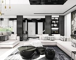 THE ONLY GAME IN TOWN | I | Wnętrza domu - Duży biały salon z barkiem z jadalnią, styl nowoczesny - zdjęcie od ARTDESIGN architektura wnętrz