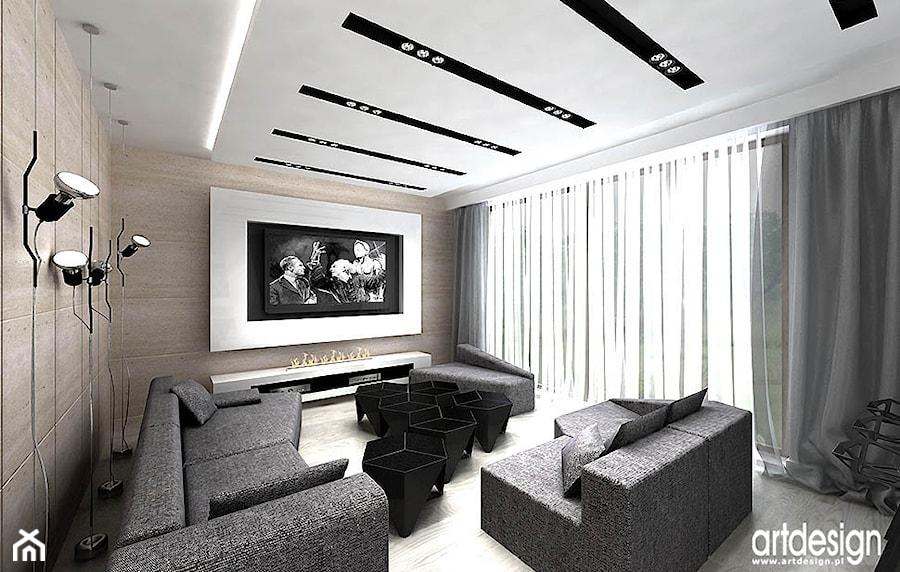 salon z apartamencie - zdjęcie od ARTDESIGN architektura wnętrz