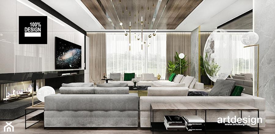 aranżacja salonu - zdjęcie od ARTDESIGN architektura wnętrz