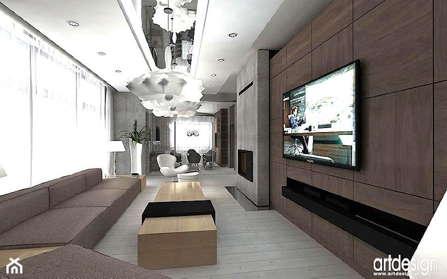 salon w luksusowym apartamencie - zdjęcie od ARTDESIGN architektura wnętrz