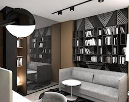 LIKE A DUCK TO WATER | II | Wnętrza domu - Średnie czarne brązowe biuro domowe kącik do pracy w pokoju, styl nowoczesny - zdjęcie od ARTDESIGN architektura wnętrz
