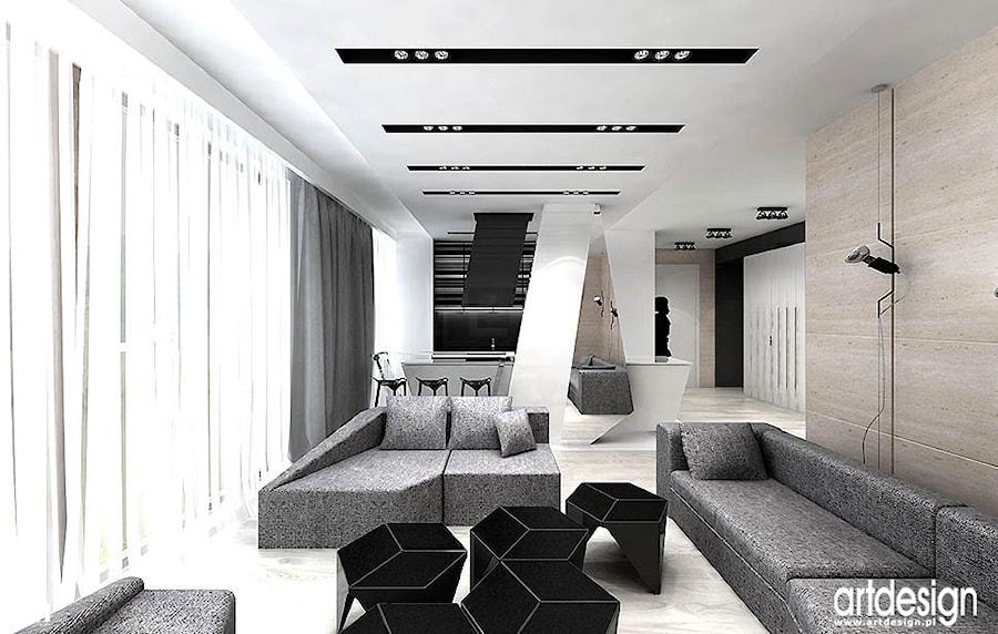 salon i kuchnia - projekty - zdjęcie od ARTDESIGN architektura wnętrz - homebook