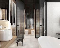 COME RAIN OR SHINE   II   Wnętrza domu - Duża szara łazienka na poddaszu w bloku w domu jednorodzinnym bez okna, styl nowoczesny - zdjęcie od ARTDESIGN architektura wnętrz