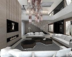 DNA OF DESIGN. Wnętrza rezydencji. - Duży kolorowy salon - zdjęcie od ARTDESIGN architektura wnętrz