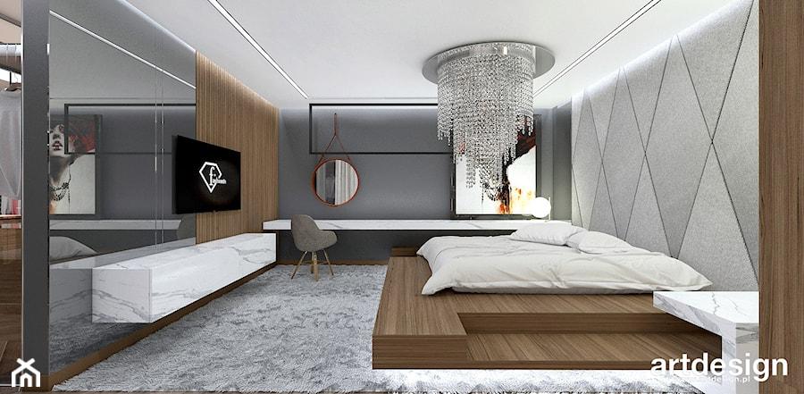 nowoczesna sypialnia - zdjęcie od ARTDESIGN architektura wnętrz
