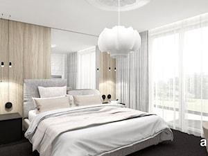 PERFECT MATCH | II | Wnętrza domu - Mała biała sypialnia małżeńska, styl nowoczesny - zdjęcie od ARTDESIGN architektura wnętrz