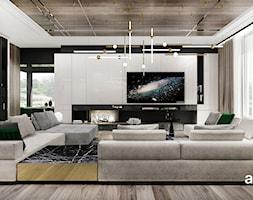 luksusowy salon w parterowym domu - zdjęcie od ARTDESIGN architektura wnętrz